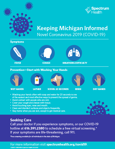 Spectrum Health Poster - Keeping Michigan Informed
